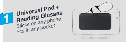 3d7341247bdb Thinoptics Reading Glasses With Universal Pod Case Bundle - Reading ...