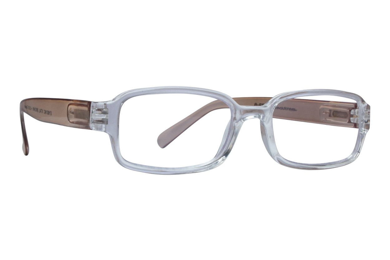 Evolutioneyes E-Specs Computer Glasses EY8319C Brown ReadingGlasses