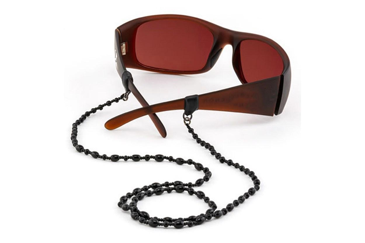 Croakies Czech Glass Tite End Eyeglasses Cord Black GlassesChainsStraps