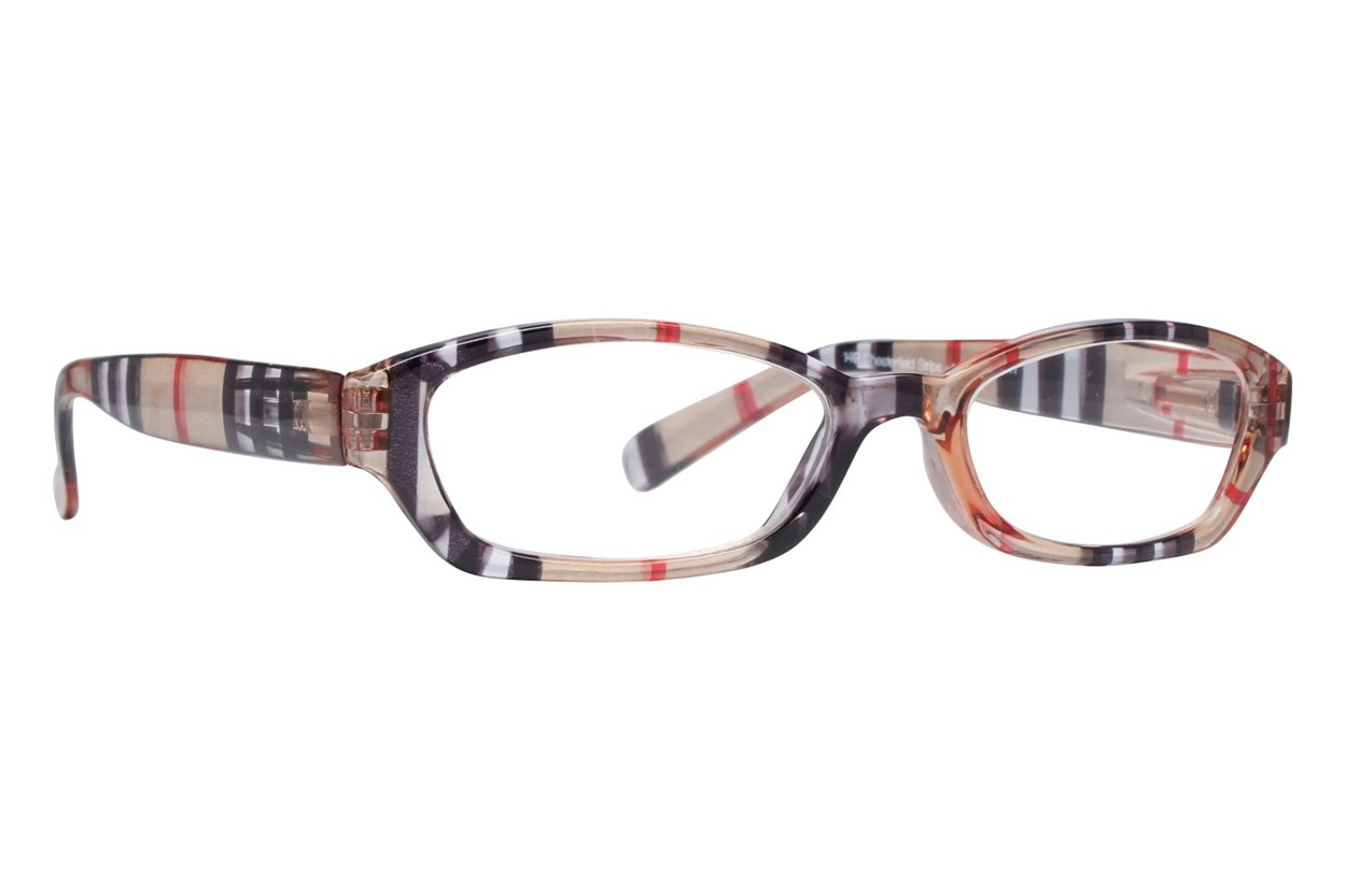 Peepers Chesterfield Stripe Designer Reading Glasses Brown