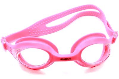 Splaqua Clear Prescription Swimming Goggles Pink