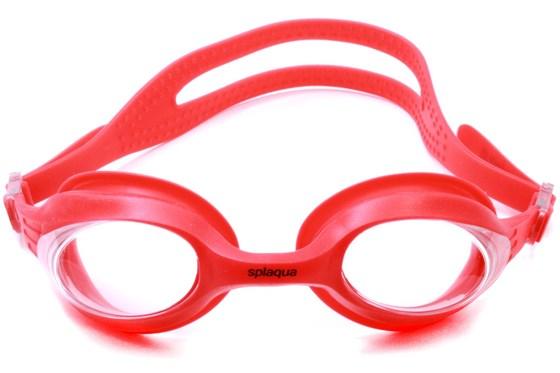 Splaqua Clear Prescription Swimming Goggles Red SwimmingGoggles