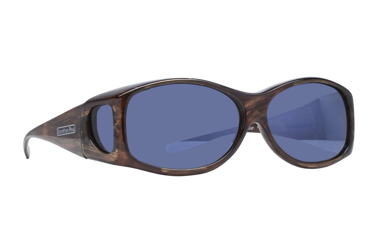 Fitovers Eyewear Glides - Sunglasses for Extra Small and Oval Eyeglass Frames Brown Sunglasses
