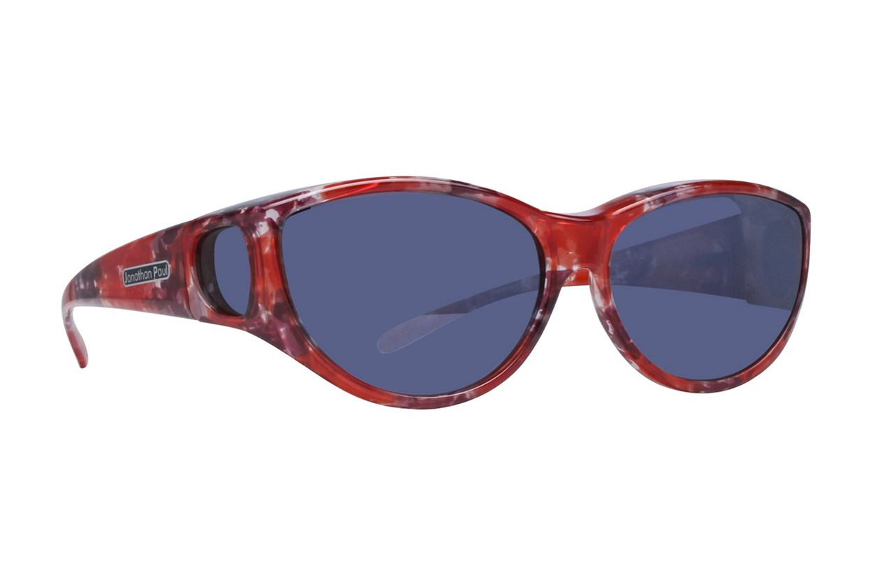 Fitovers Eyewear Ikara - Fit Over Prescription Sunwear for Corrective Eyewear Red Sunglasses