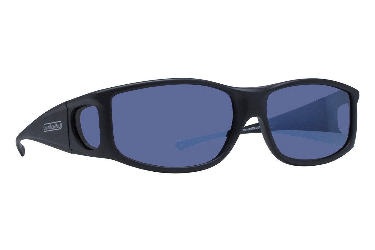 Fitovers Eyewear Jett by Jonathan Paul Eyewear - Fits Over Prescription Eyeglasses Black Sunglasses