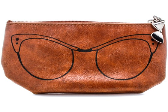 Corinne McCormack Cognac Cat Eye Soft Case Brown GlassesCases