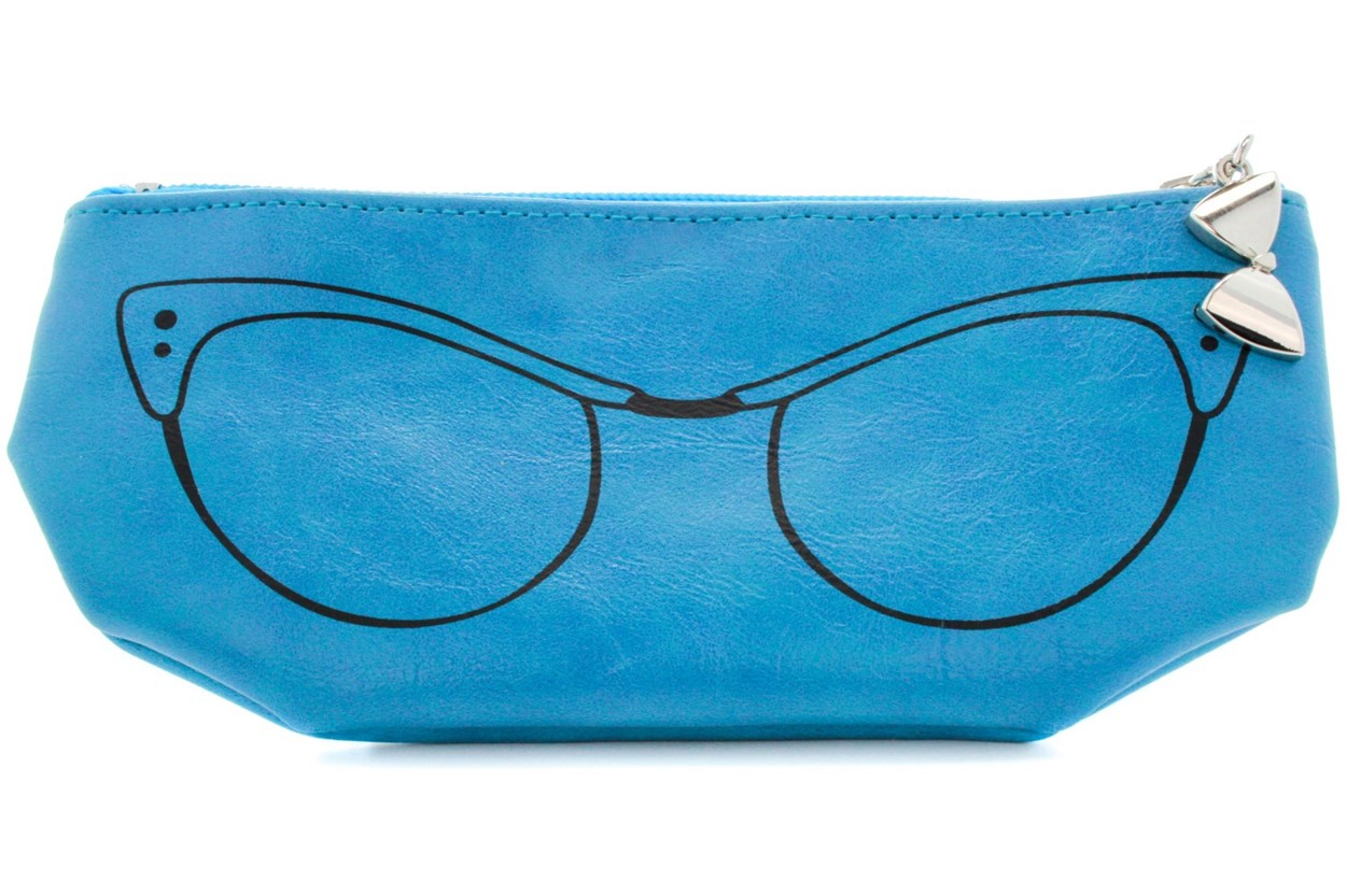 Corinne McCormack Teal Cat Eye Soft Case Turquoise GlassesCases