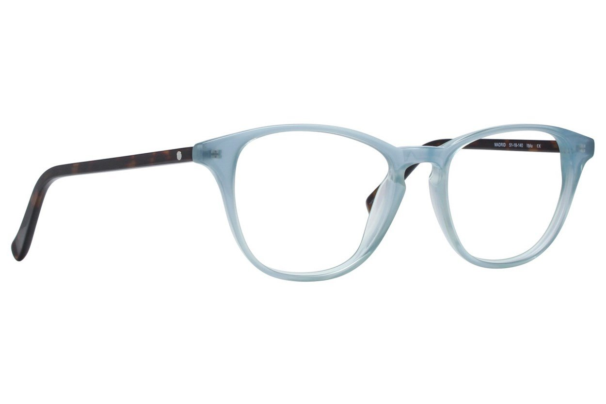 Eco Madrid Blue Glasses
