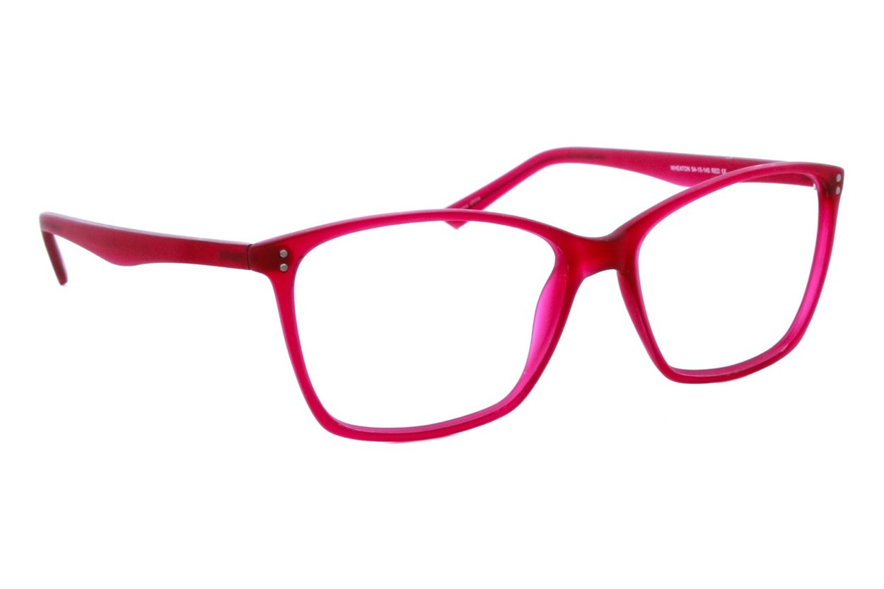 Eco Wheaton Red Glasses