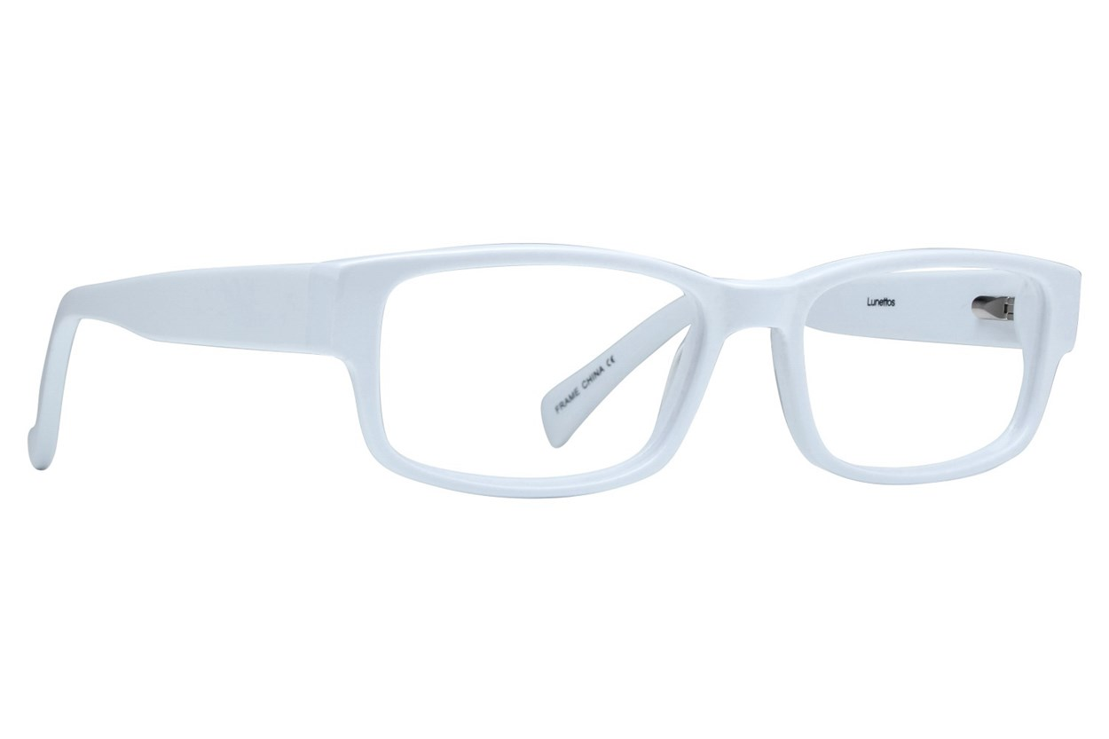 Lunettos Taylor White Glasses