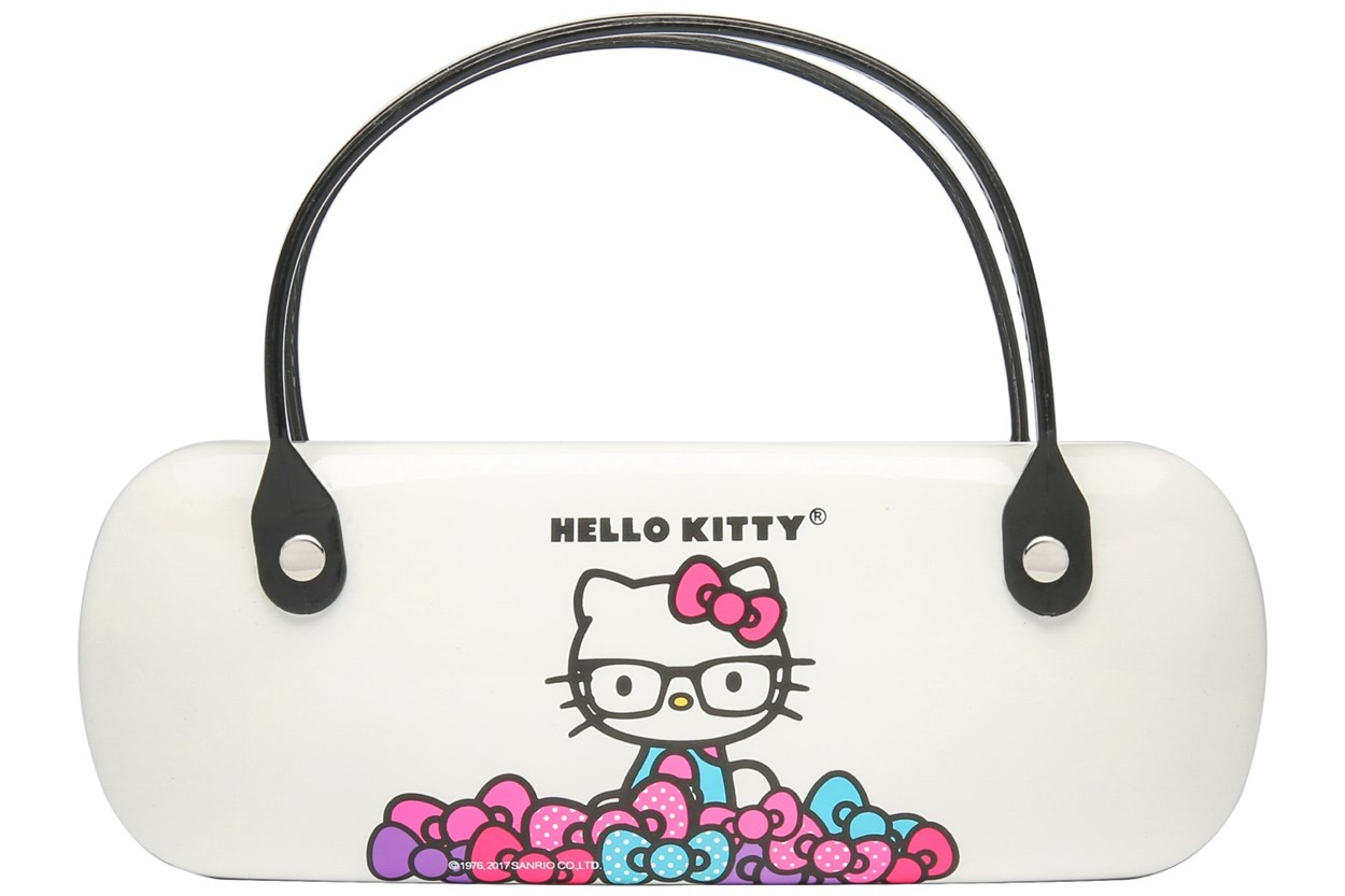Hello Kitty Clamshell Eyeglass Case 50 - White