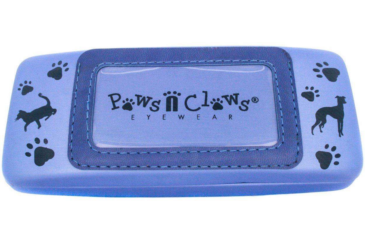 Paws n Claws Clamshell Case With Photo Pocket Blue GlassesCases