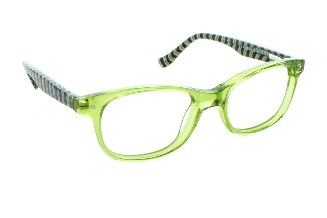 Kensie Girl Stripes Green Glasses