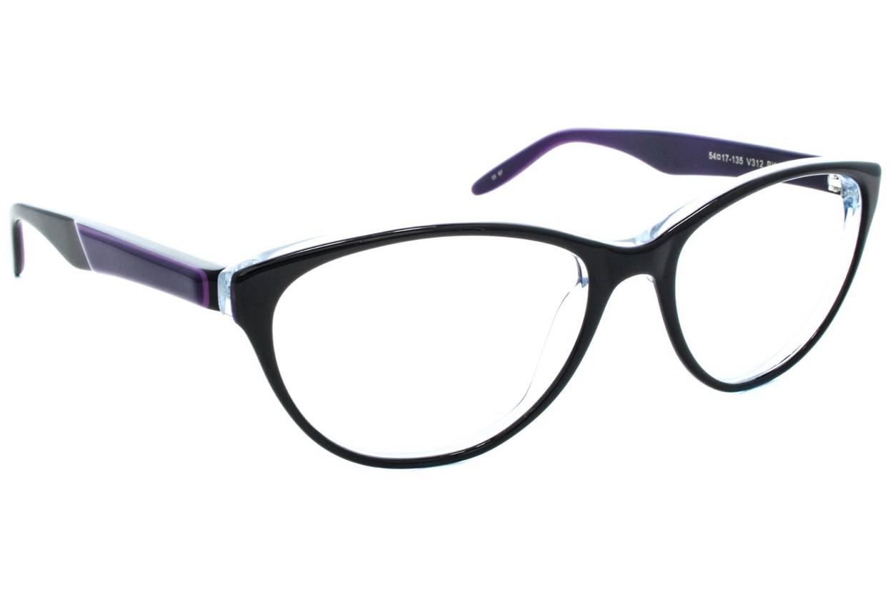 Vera Wang V312 Black Glasses
