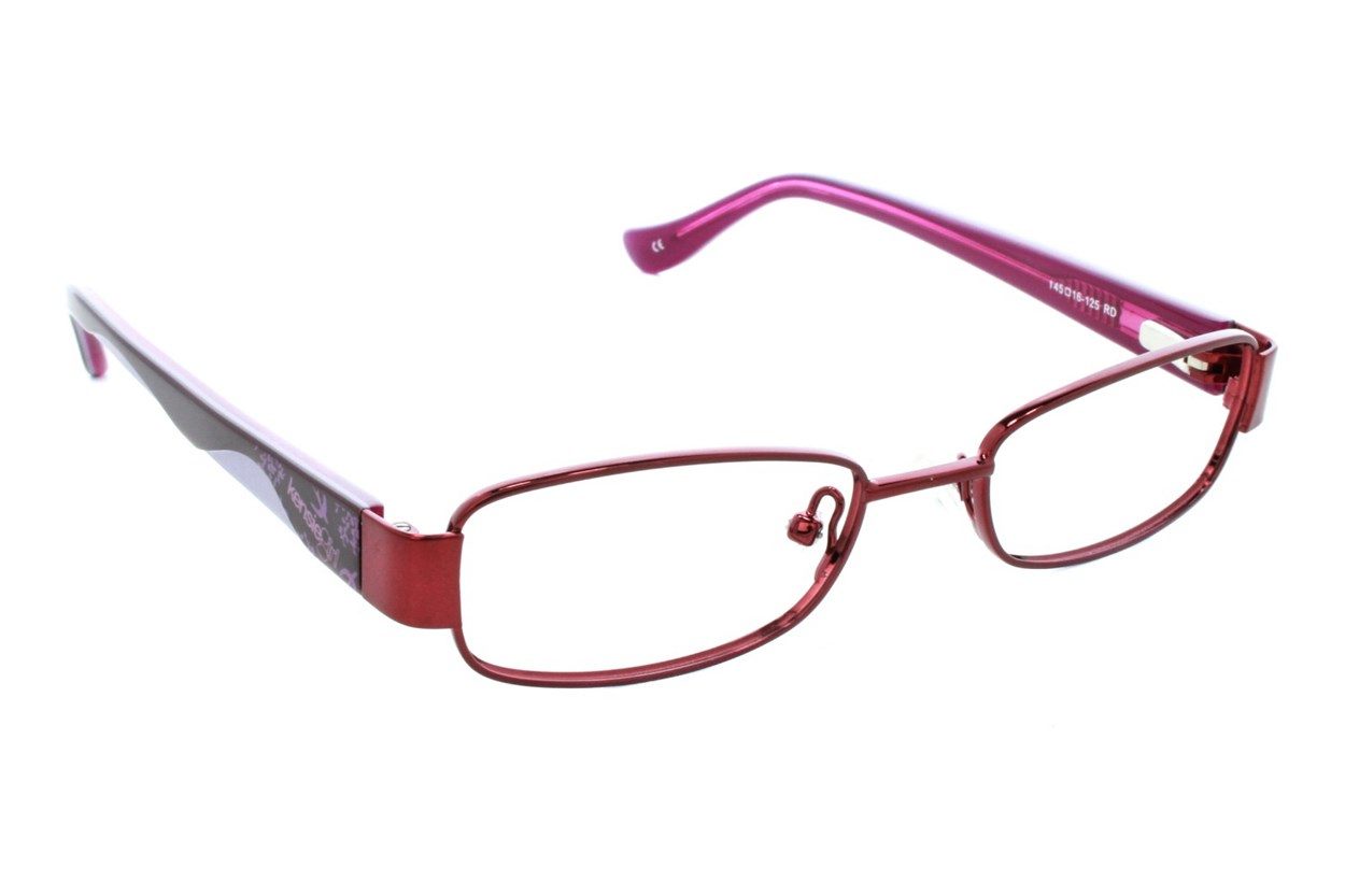 Kensie Girl Wavy Red Glasses