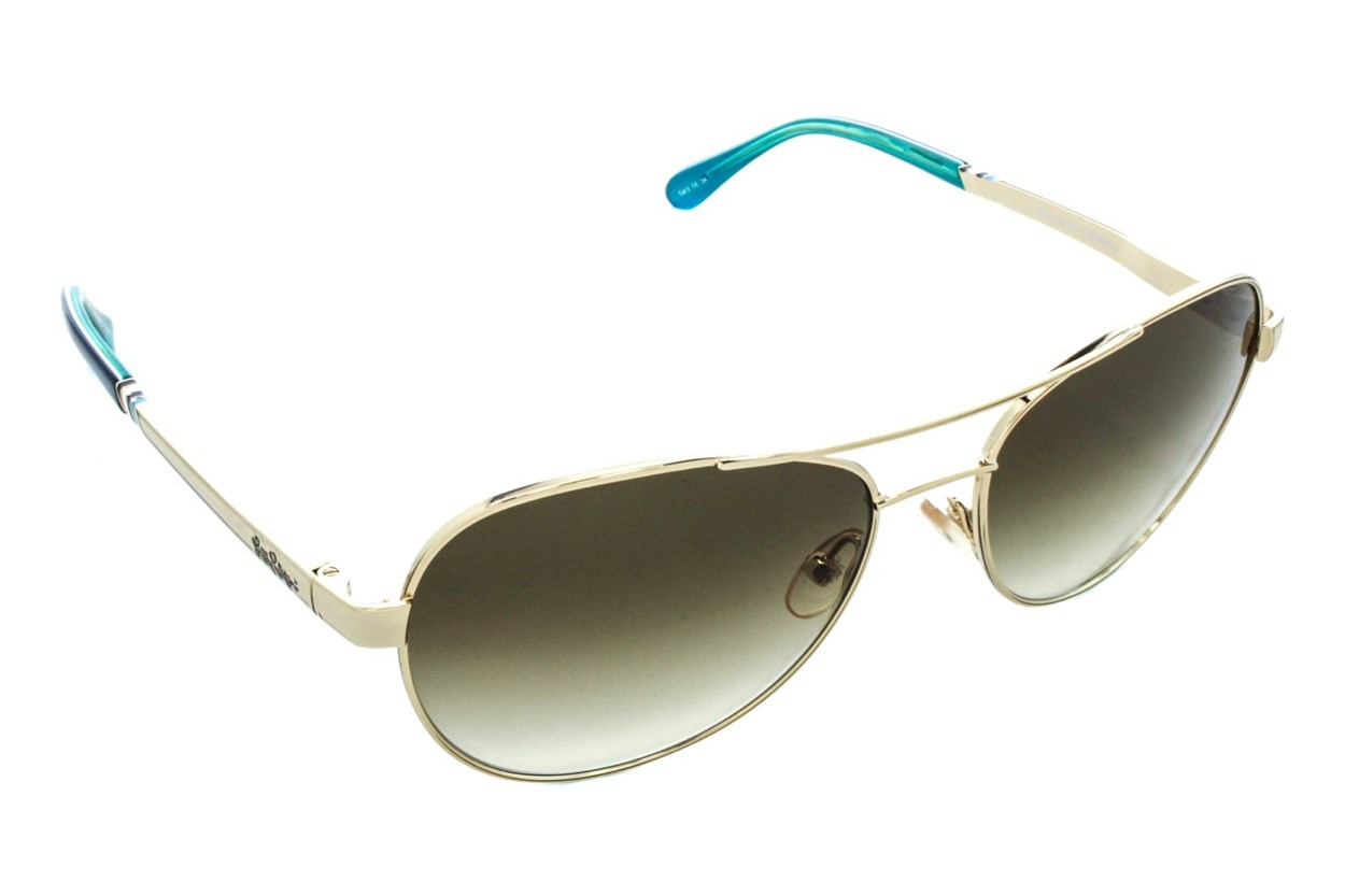 Lilly Pulitzer Athens Sunglasses - Gold