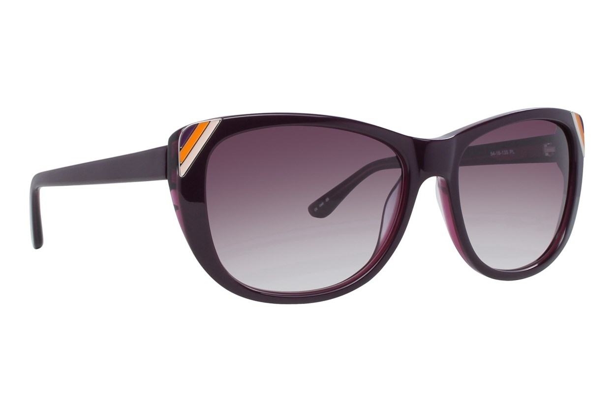 Kensie On The Edge Purple Sunglasses