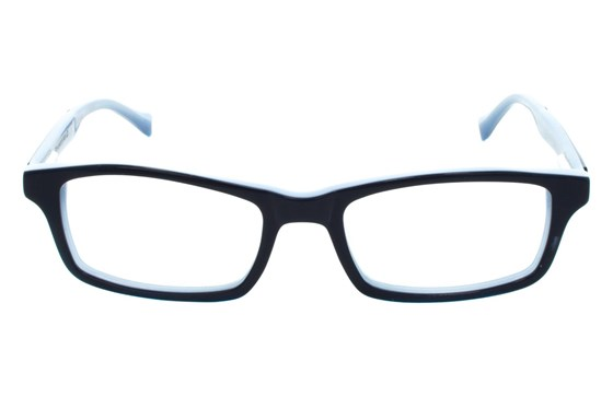 Lucky Double Stitch Small Blue Glasses