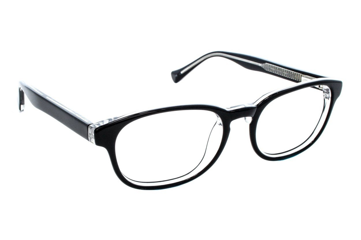 Lucky Dynamo Small Black Glasses