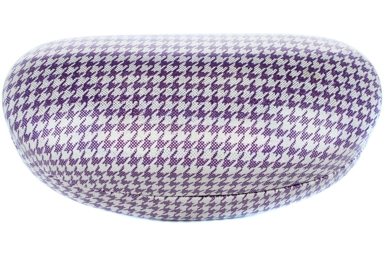 CalOptix Shimmer Houndstooth Sunglass Case 50 - Purple
