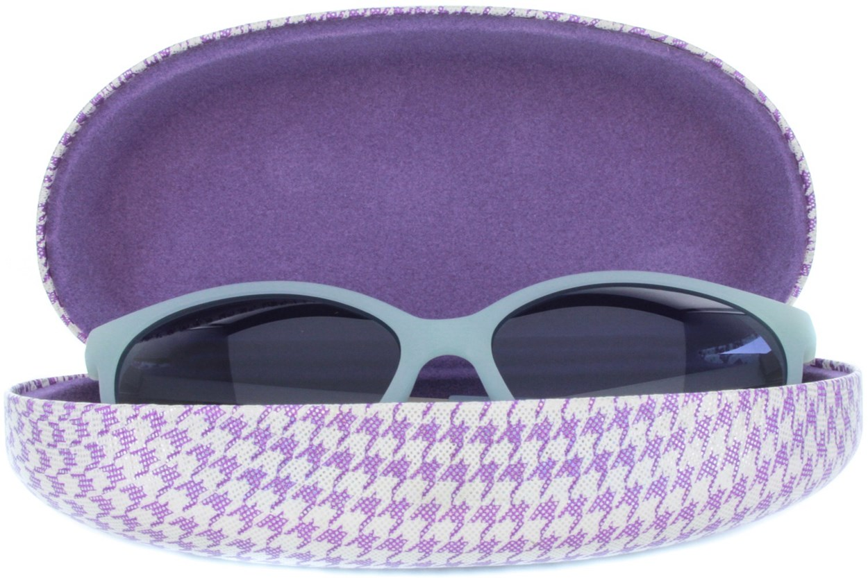 Alternate Image 1 - CalOptix Shimmer Houndstooth Sunglass Case 50 - Purple