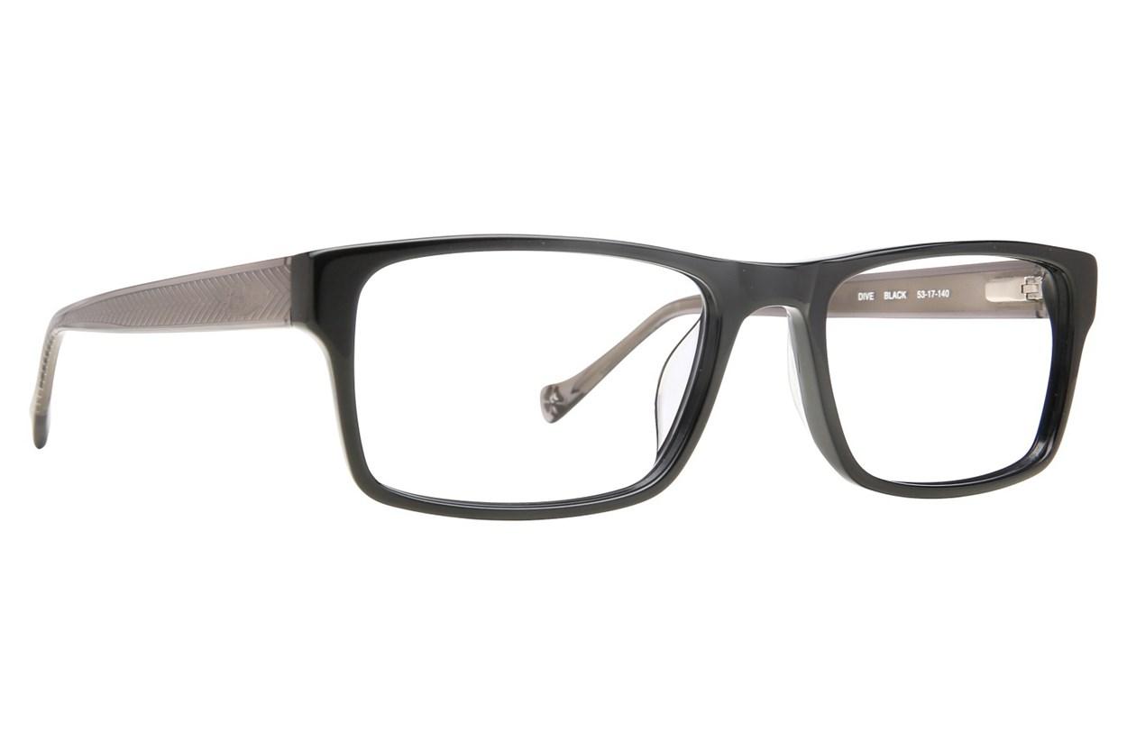 Lucky Dive Black Glasses
