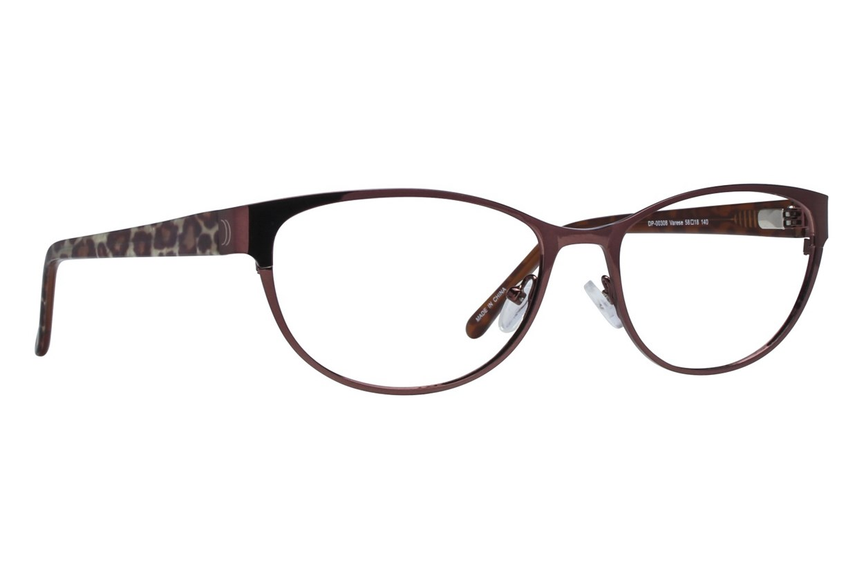 Dea Extended Size Varese Eyeglasses - Brown