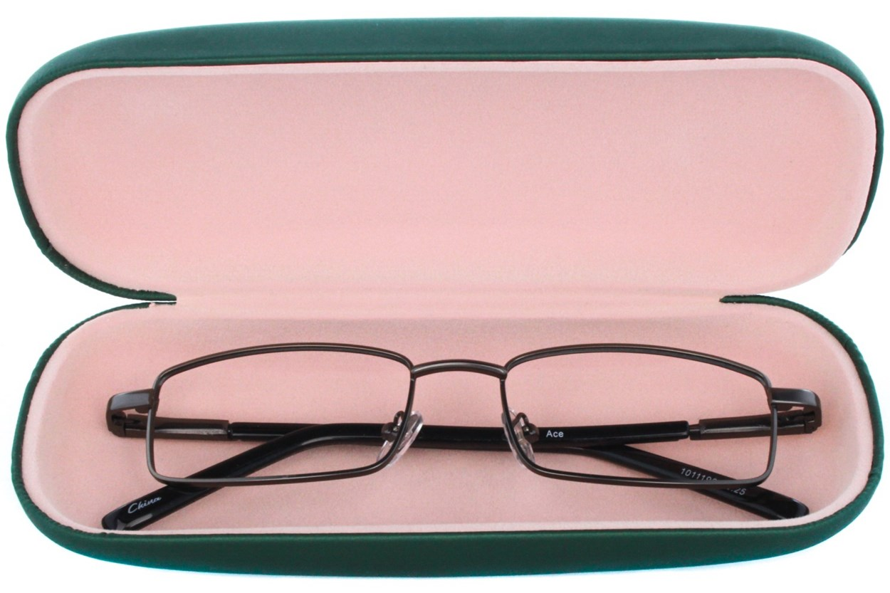 Alternate Image 1 - Amcon Protective Clam Eyeglasses Case Colors 50 - Green