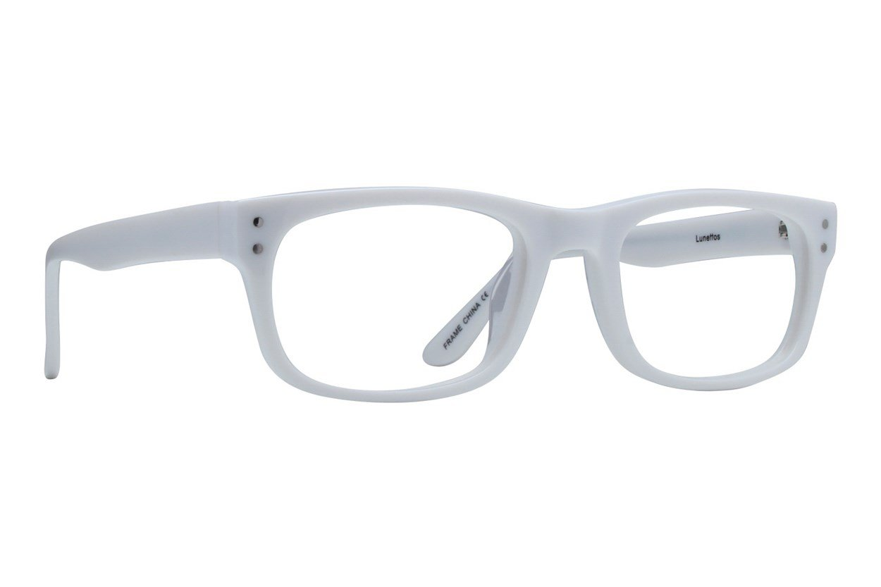 Lunettos Brian White Glasses