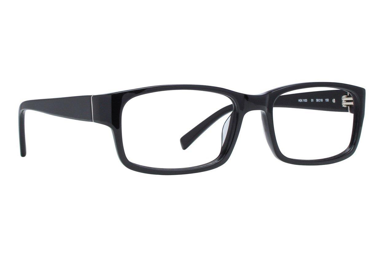 Hackett London Large Fit HEK1103 Black Glasses