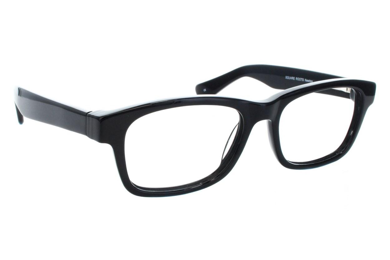 Square Root Newton Black Glasses