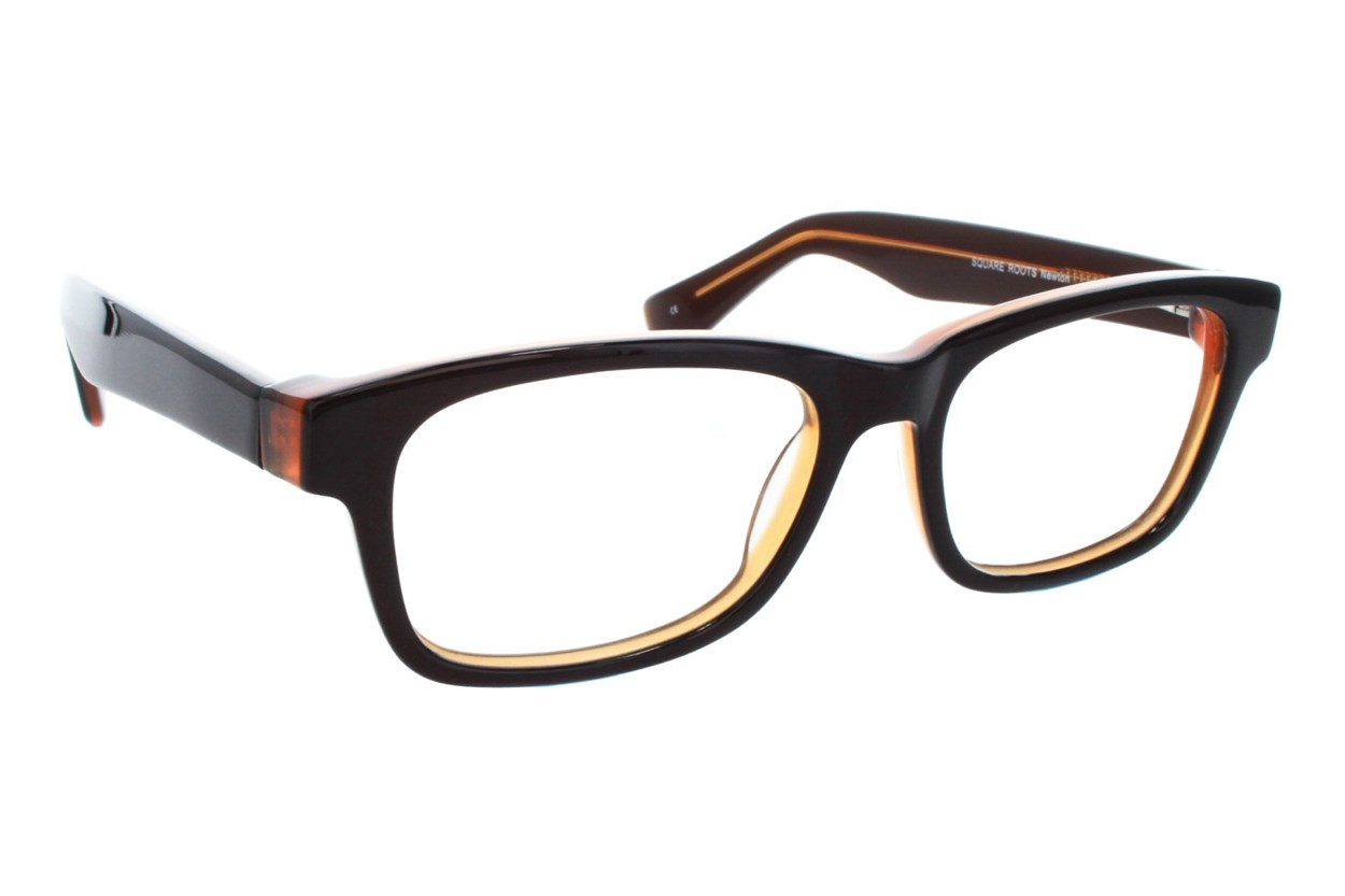 Square Root Newton Brown Glasses