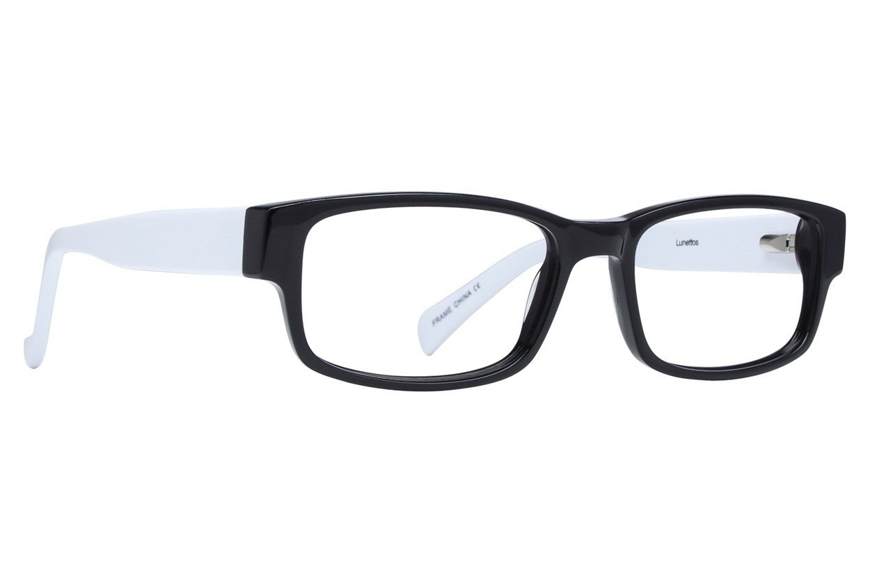 Lunettos Clark White Glasses