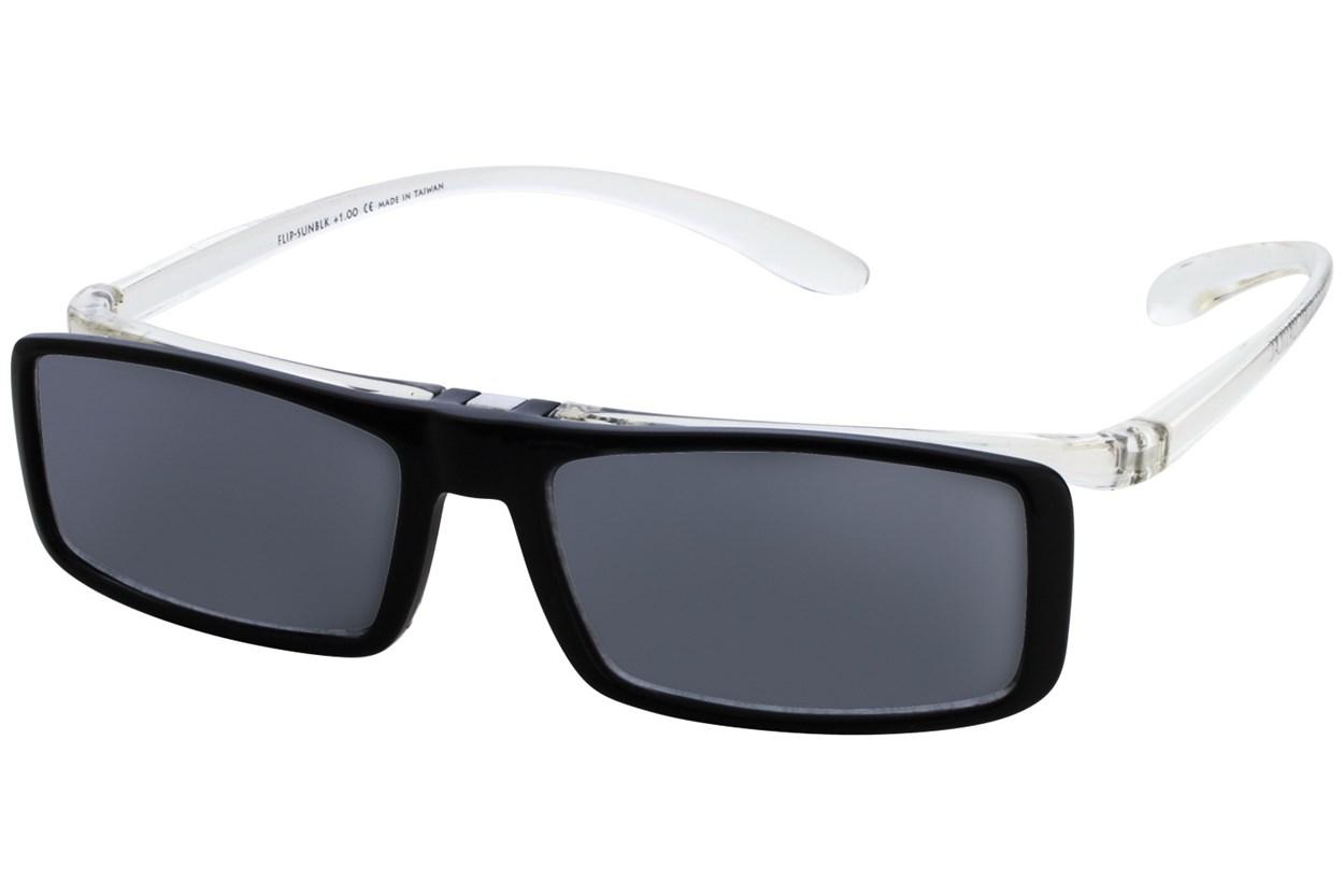 Alternate Image 3 - I Heart Eyewear Flip-Up Reading Sunglasses Black ReadingGlasses