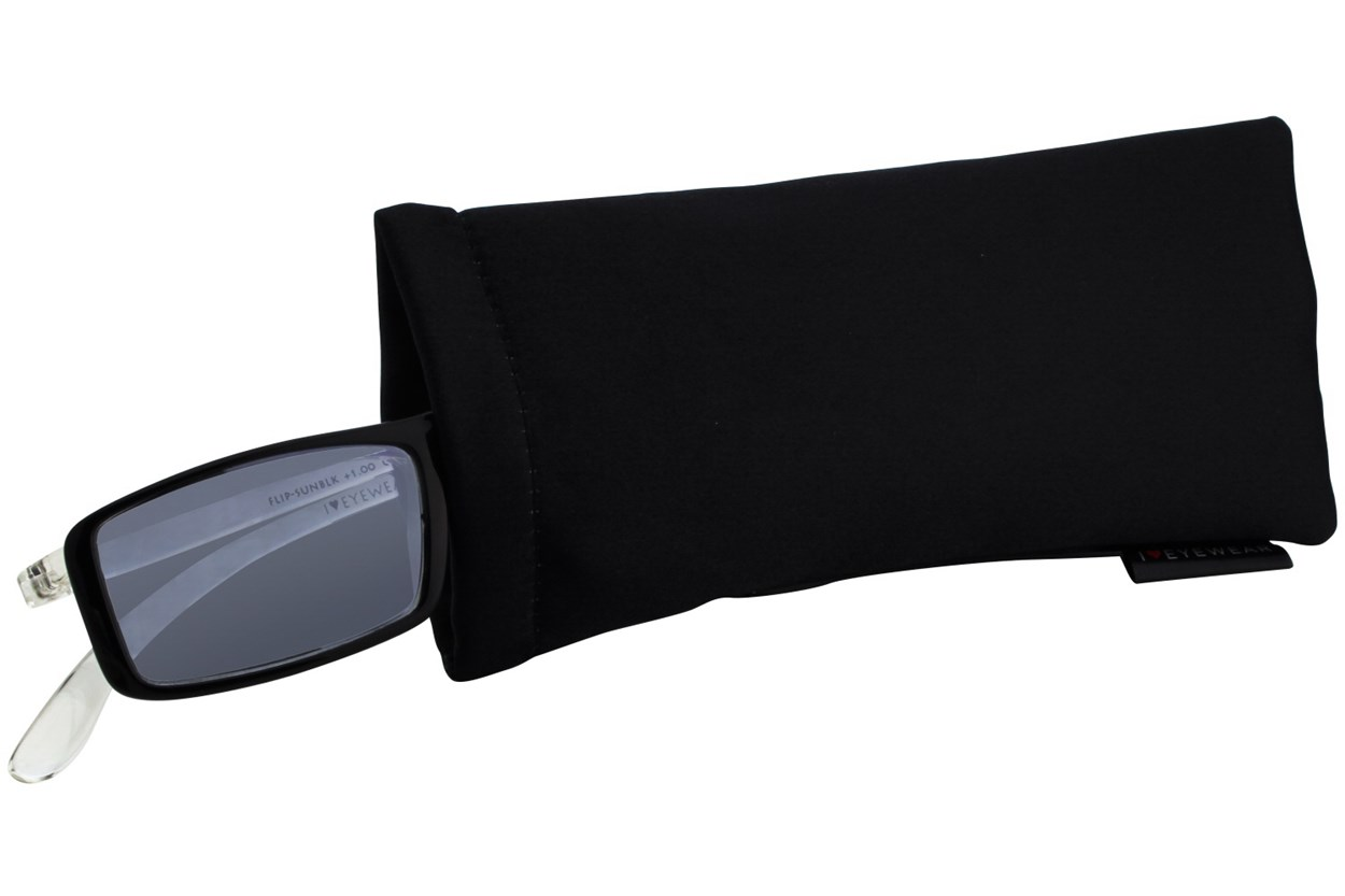 Alternate Image 1 - I Heart Eyewear Flip-Up Reading Sunglasses Black ReadingGlasses