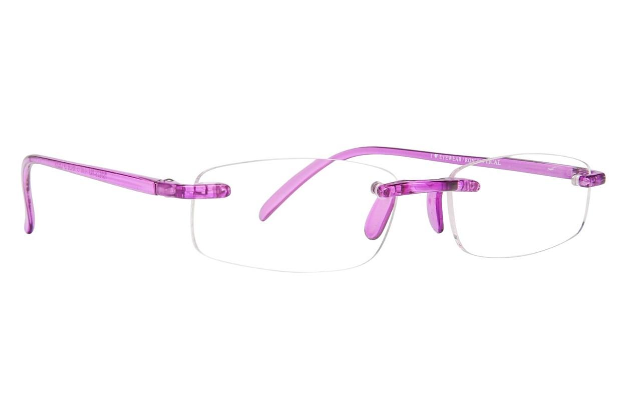 I Heart Eyewear Twisted Specs Purple ReadingGlasses