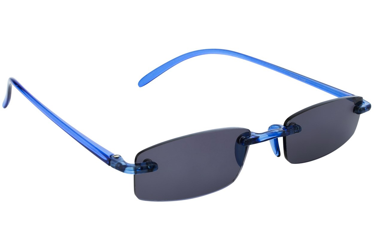 Alternate Image 1 - I Heart Eyewear Twisted Sun Specs ReadingGlasses - Blue