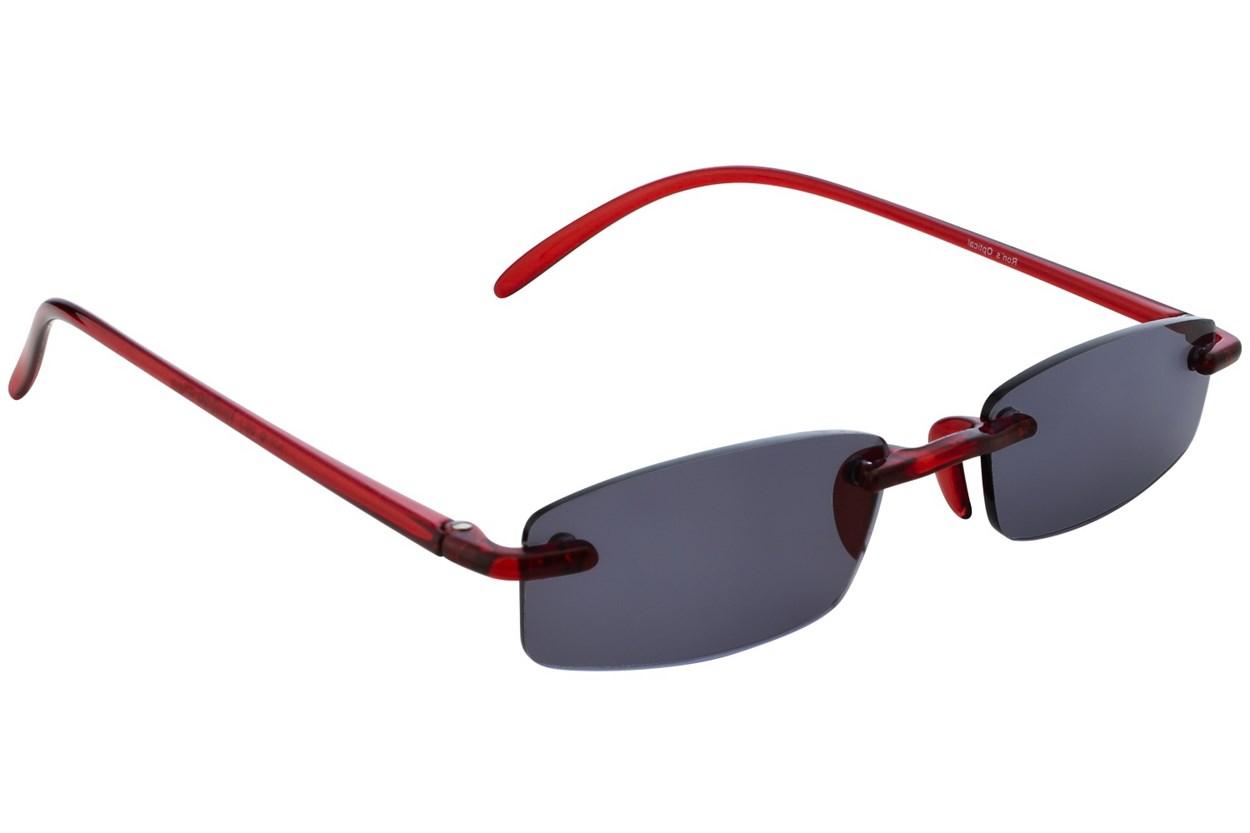 Alternate Image 1 - I Heart Eyewear Twisted Sun Specs Red