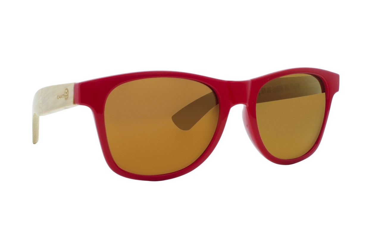 EARTH Wood Rockport Sunglasses - Red