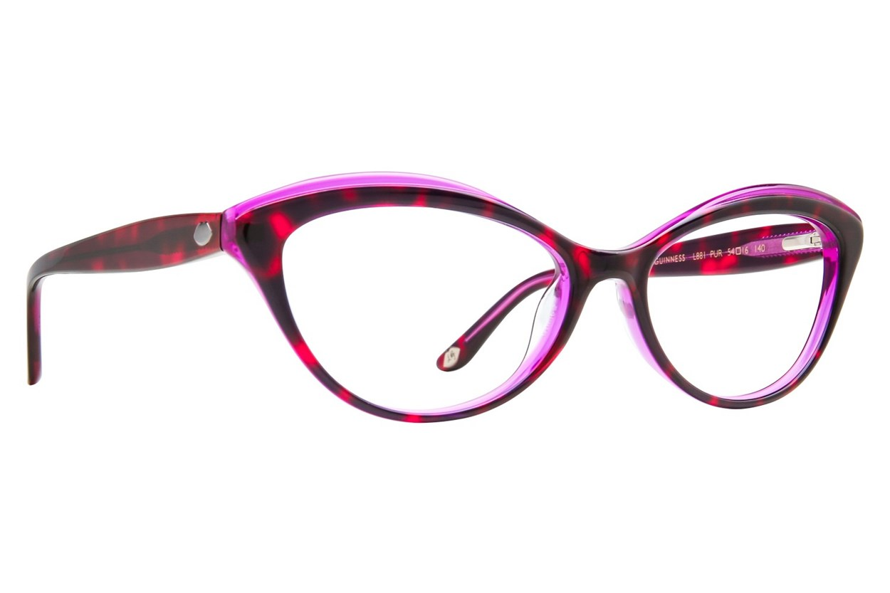 Lulu Guinness L881 Purple Glasses