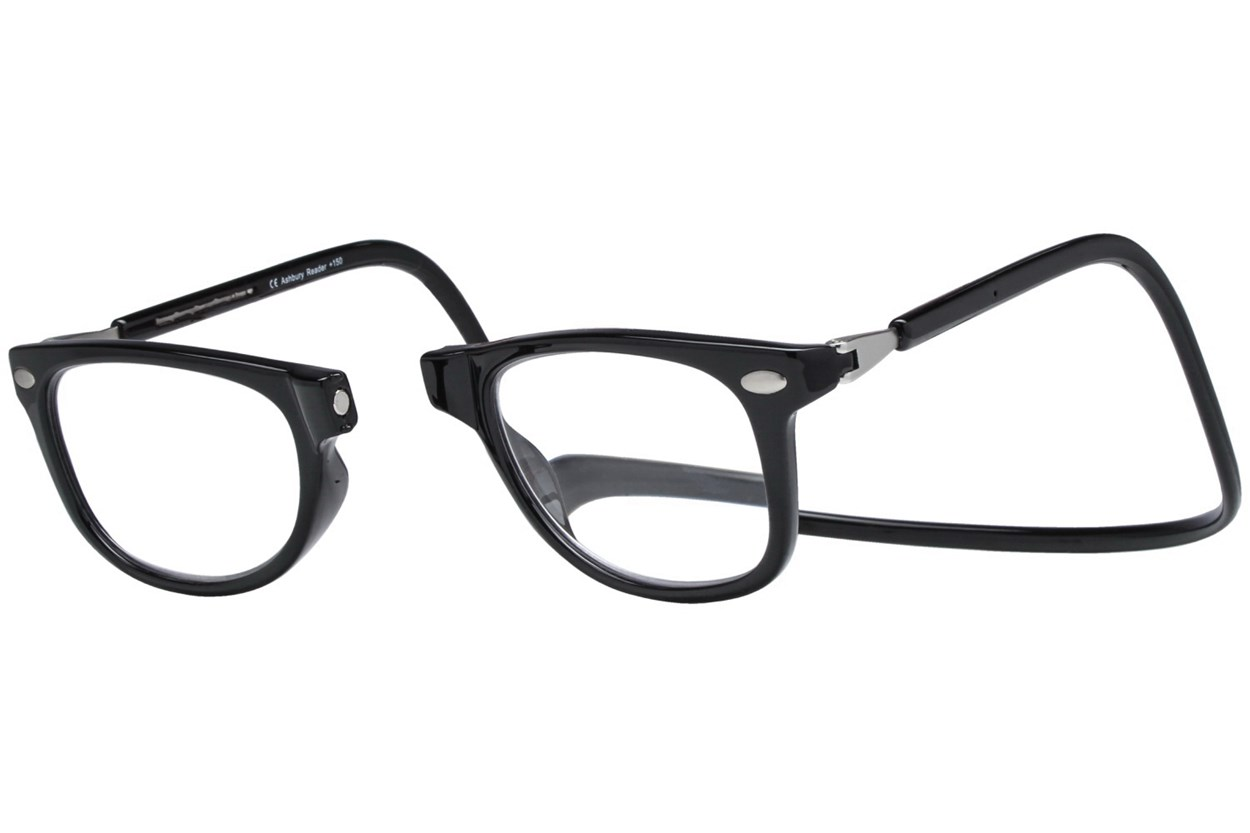 Alternate Image 1 - Clic-Optical Ashbury Black ReadingGlasses