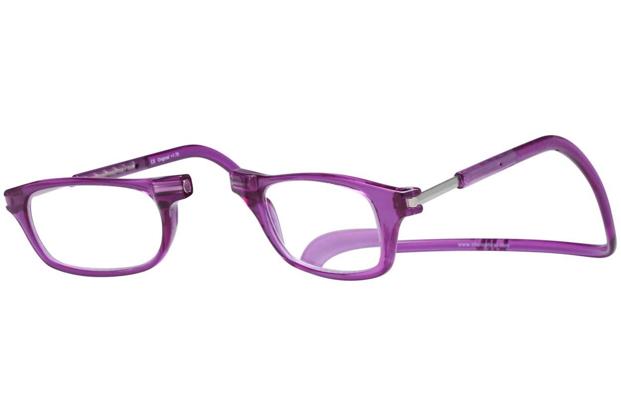 Alternate Image 1 - Clic-Optical Original Purple ReadingGlasses