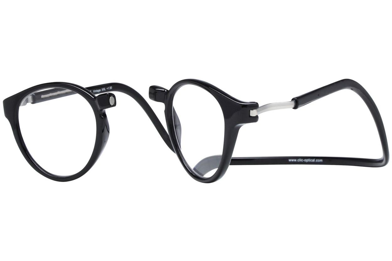 Alternate Image 1 - Clic-Optical Vintage XXL Black ReadingGlasses