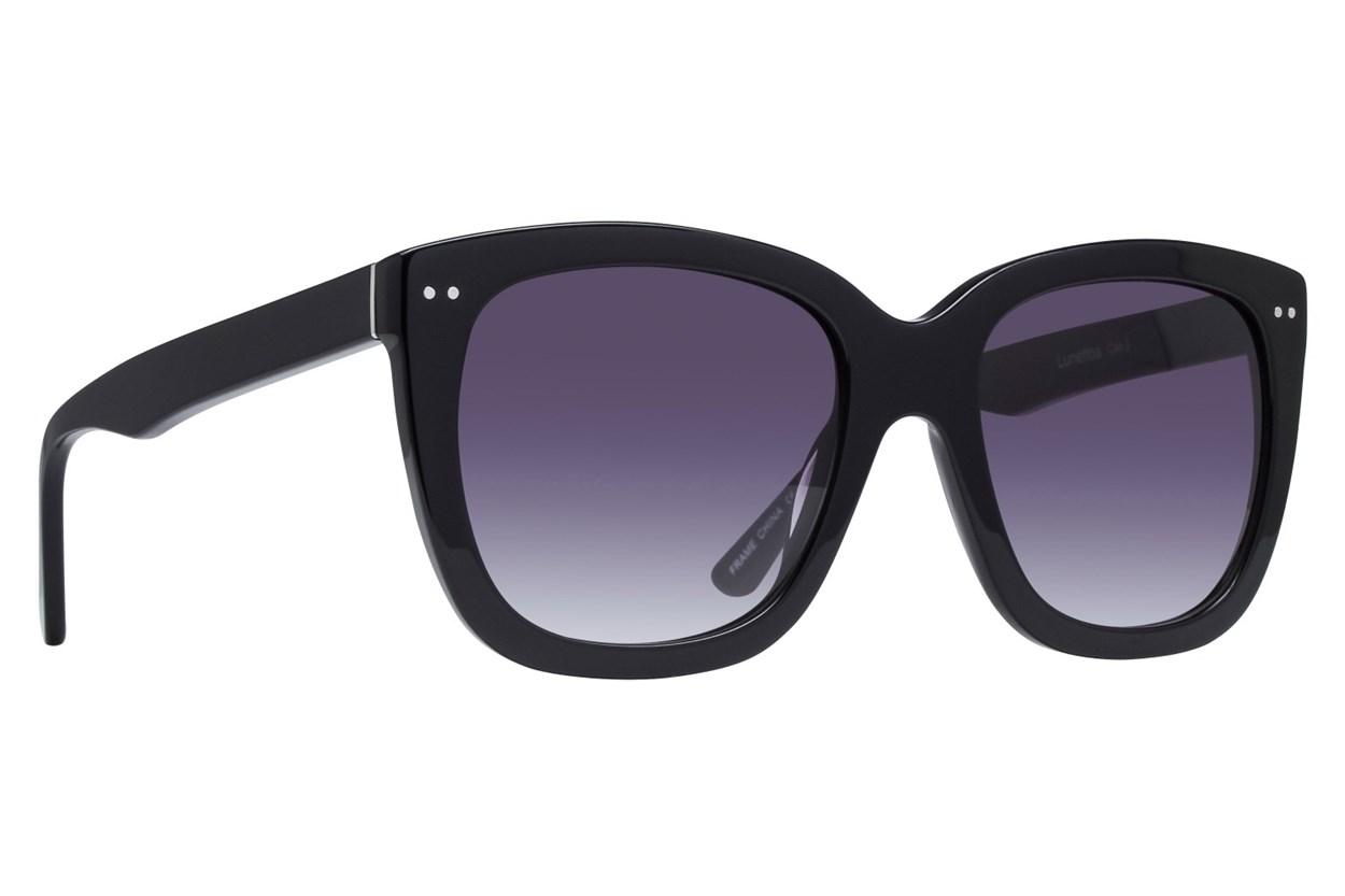 Lunettos Rose Black Sunglasses