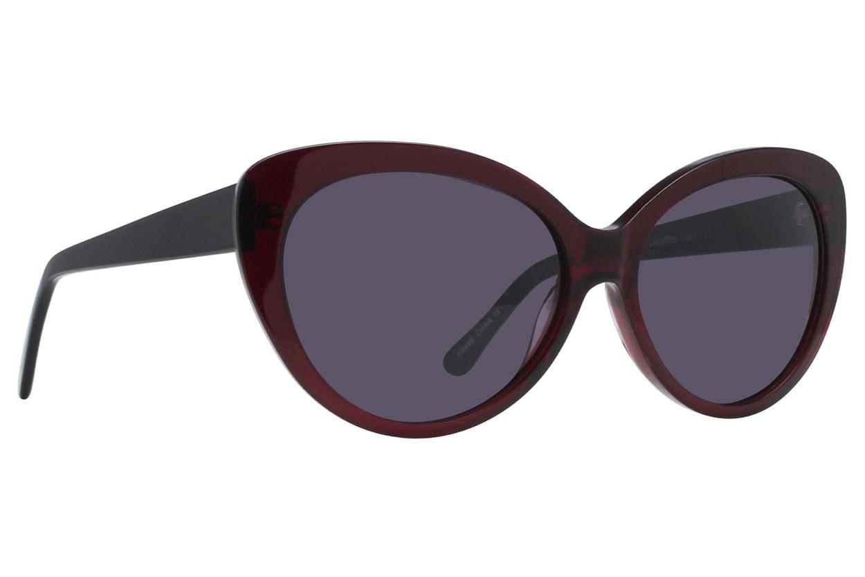 Lunettos Sara Red Sunglasses