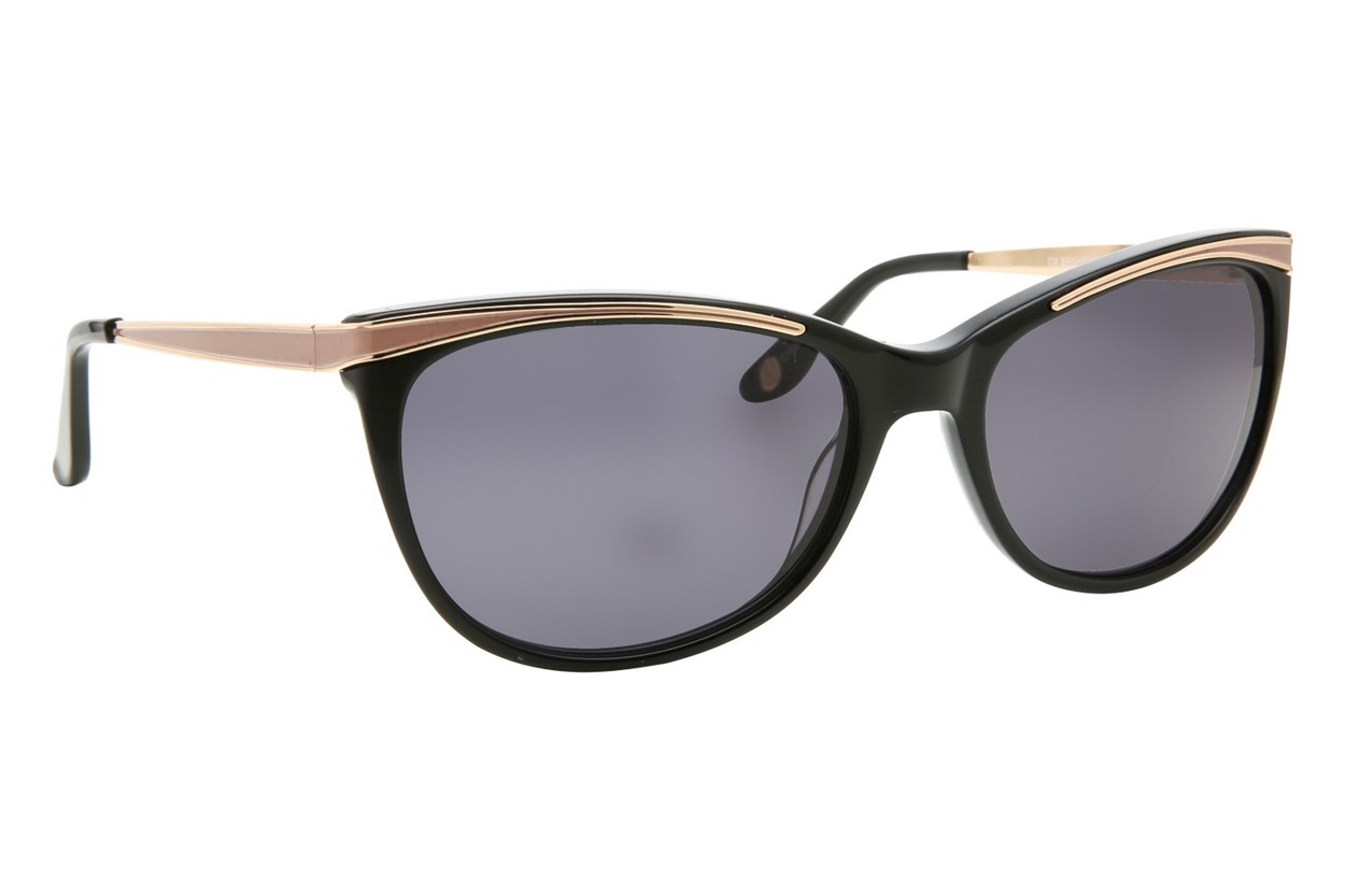 Corinne McCormack Brighton Beach Black Sunglasses