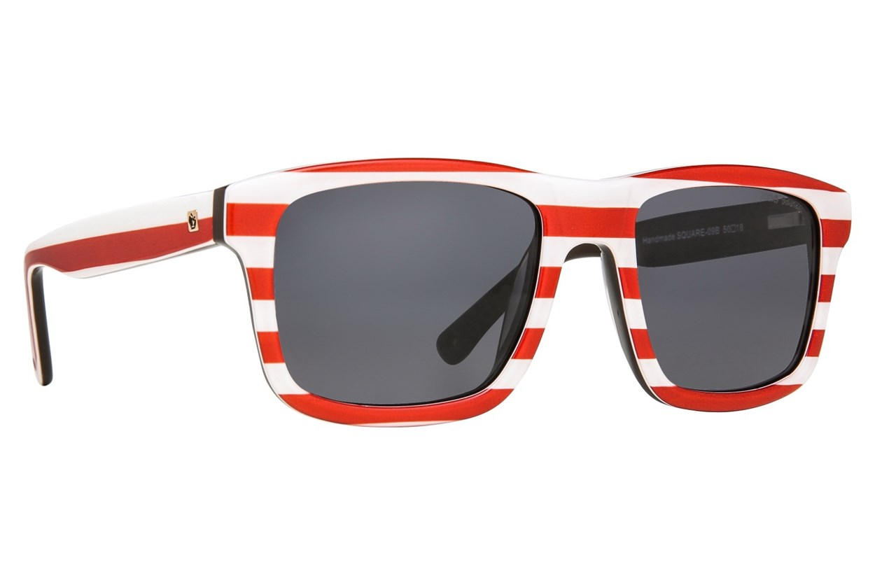 Zoobug Square (Age 6-12) Sunglasses - Red