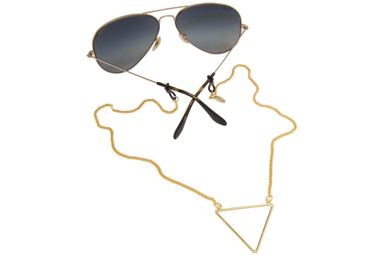 Sintillia Tri-Peace Strap Gold GlassesChainsStraps