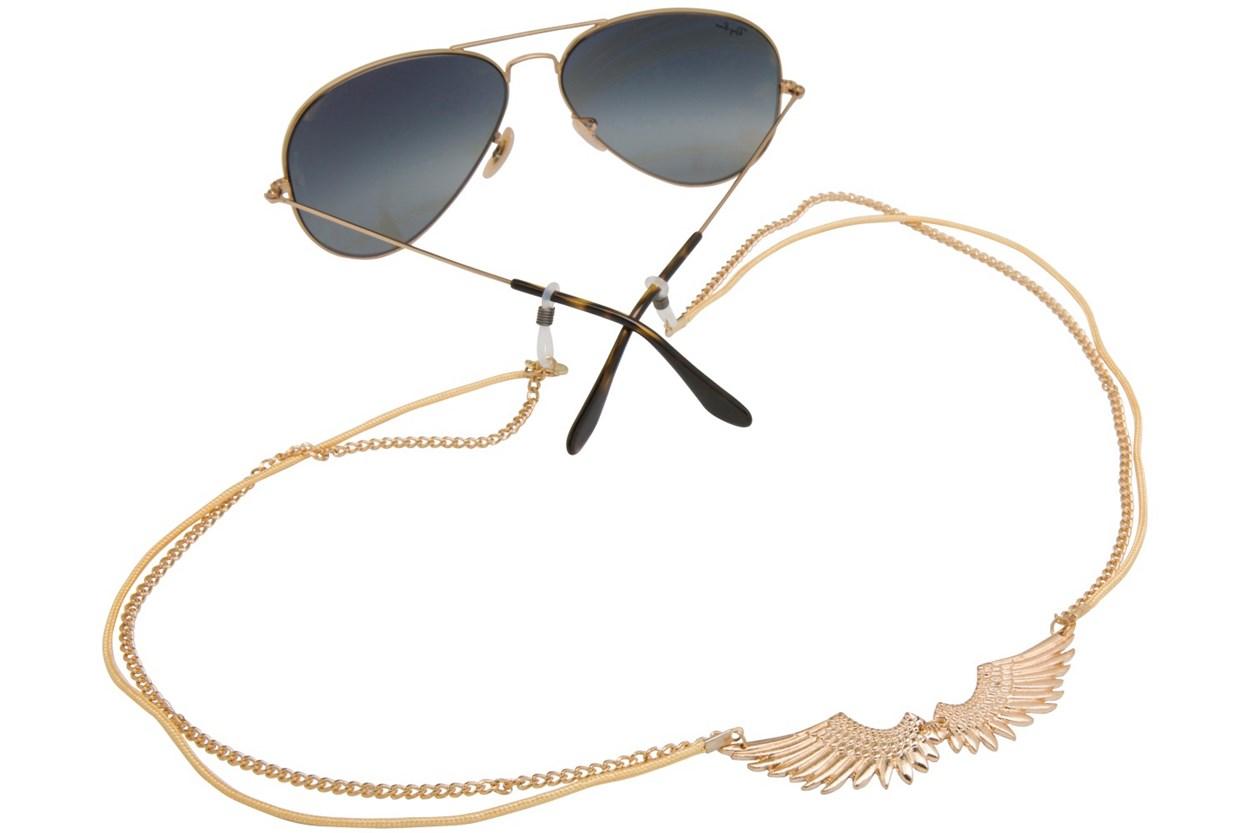 Sintillia Infinity Wings Strap Gold GlassesChainsStraps