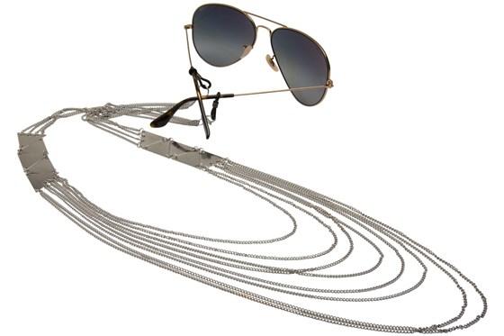 Sintillia Bare it All Backlace Strap Silver GlassesChainsStraps